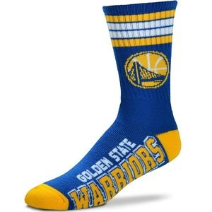 NBA Golden State Warriors Mens Crew Socks